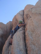 Rock Climbing Photo: Myong getting started on her first ever trad lead.