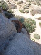 Rock Climbing Photo: Myong finishing up Beginner's Three.