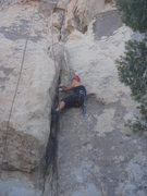 Rock Climbing Photo: How to avoid offwidths, lesson 1: Lieback.  Sadie ...