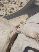 Rock Climbing Photo: Sadie on Upper Right Ski Track.