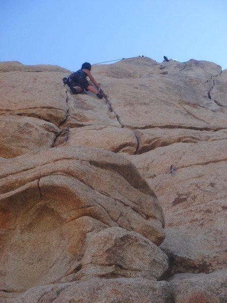 Rock Climbing Photo: Myong working her way up Wild Wind.