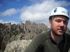 Rock Climbing Photo: JR on the summit. 5/24/11