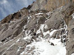 Rock Climbing Photo: Heading into Fields Chimney, May 23, 2011.