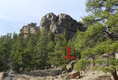 Rock Climbing Photo: Location of Sunkist (5.7) on Springer Gulch Wall.