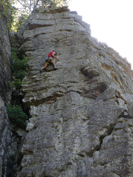 Rock Climbing Photo: At bolt 6 (or 5?)