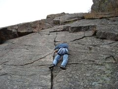 Rock Climbing Photo: Dave Kenealy on 5.8 crack.