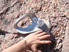 Rock Climbing Photo: Picture of the large bolts found at the top of the...