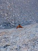 Rock Climbing Photo: freezing!!! Winnie following