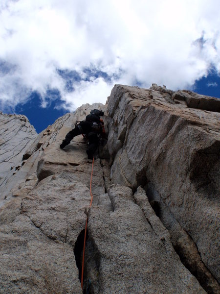 Rock Climbing Photo: up she goes pitch 4