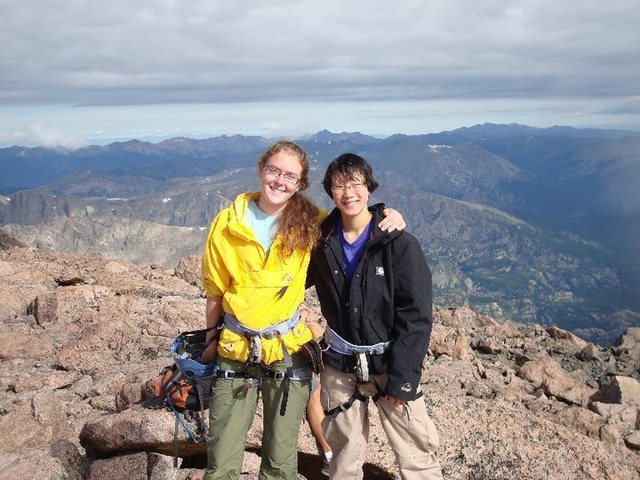 On top of Longs Peak<br> Andrea and Emily