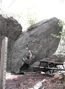 """Rock Climbing Photo: Steve Lovelace going for the 2nd ascent of """"D..."""