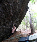 "Rock Climbing Photo: Steve Lovelace going for the 2nd ascent of ""S..."