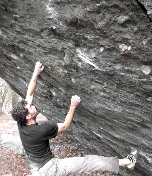 "Rock Climbing Photo: Aaron James Parlier on the FA of ""SHAZAM&quot..."