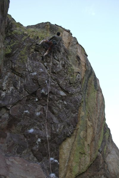 Rock Climbing Photo: Jason Horning about to hit the crux and send it on...