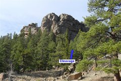 Rock Climbing Photo: Location of Cleavage on Springer Gulch Wall.