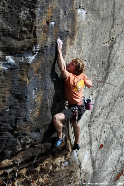 Rock Climbing Photo: Andy Hansen works Suppress the Rage. He sends next...