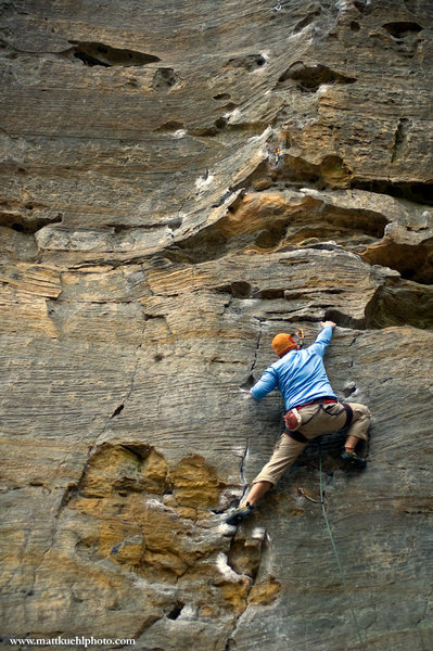 Rock Climbing Photo: David Neill on Whip-Stocking Nov 2010. mattkuehlph...