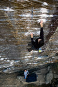 Rock Climbing Photo: Dan Apostoli on route. Fall 2009. mattkuehlphoto.c...