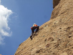 Rock Climbing Photo: Pulling pockets and knobs on the way to the anchor...