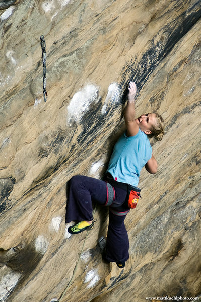rock climb white man s overbite red river gorge