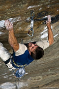 Rock Climbing Photo: Jeff Fulgham feelin' the pump on Snooker. Fall 200...