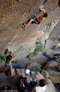 Rock Climbing Photo: Eddie Avallone on route, Rachel Melville on belay....
