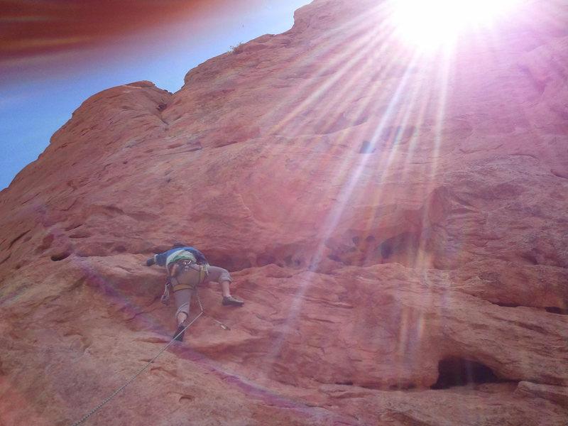 Rock Climbing Photo: Sun cresting over the southern Gateway.