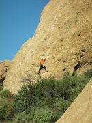 """Rock Climbing Photo: Starting up """"Boneyard."""""""