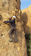 """Rock Climbing Photo: Steep moves on """"Texas Chainsaw Massacre.&quot..."""