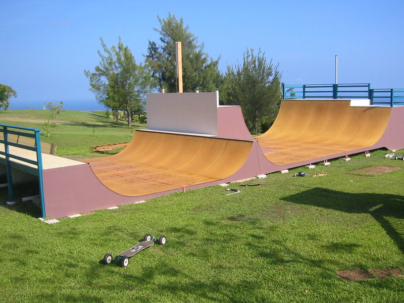 Back yard skate ramp.