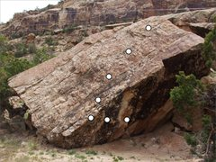 Rock Climbing Photo: Silly Rabbit problem on Deception Rock.