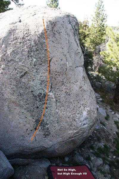 Rock Climbing Photo: Not So High, but High Enough V0, Topo