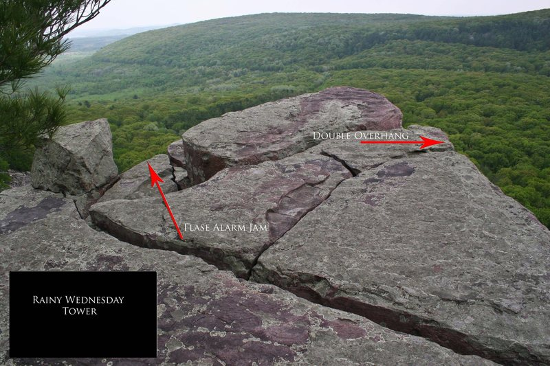 Rock Climbing Photo: Rainy Wednesday Tower