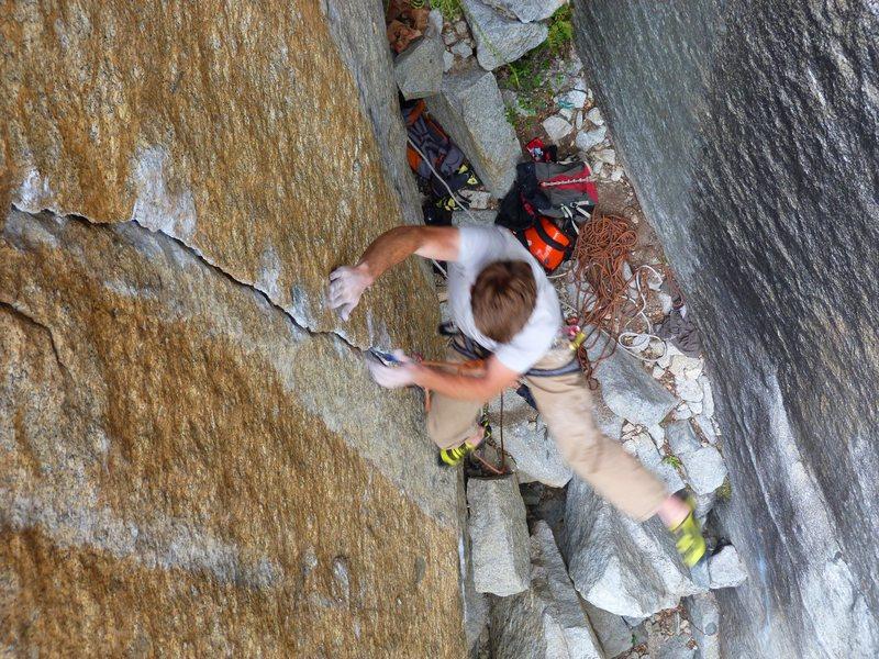 Rock Climbing Photo: Cody takes the fall on Phantom