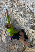 Rock Climbing Photo: Andy Hansen working out the moves on the fun and s...