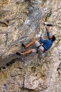 Rock Climbing Photo: Matt Kuehl enjoys Straight Outa Compton. Fall 2010
