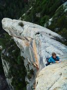 Rock Climbing Photo: Monica on the airy final feet of the route. The ge...