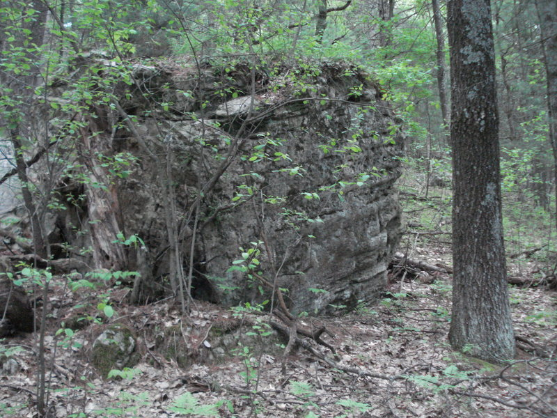 Rock Climbing Photo: Estranged boulder along the foot trail (trail betw...