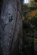 Rock Climbing Photo: Amarillo Sunset, 5.11b