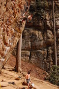 Rock Climbing Photo: Fuzzy Undercling, 5.11-