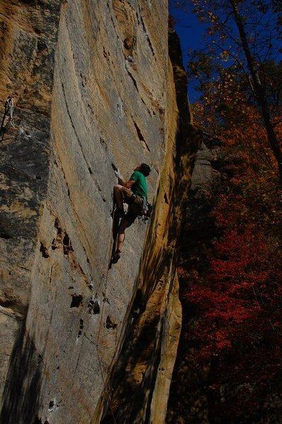 Rock Climbing Photo: Dogleg, 5.12a