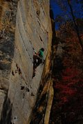 Rock Climbing Photo: Dogleg, 5.12a