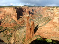 Rock Climbing Photo: spider rock in canyon de chelly