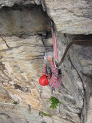 "Rock Climbing Photo: Hal Chorny pulling the hang on ""Strictly&quot..."