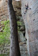 Rock Climbing Photo: Matt Kuehl getting stretched out! Taken during Roc...