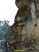 Rock Climbing Photo: Short but good pockets/flakes and crack to jugs an...