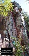 Rock Climbing Photo: Double Overhang 5.4