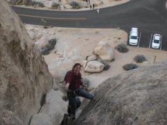 Rock Climbing Photo: Right ski track in J Tree