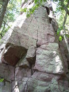 Rock Climbing Photo: Start left, traverse right, up, then left again, t...