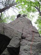 Rock Climbing Photo: Worthless purple C3 halfway up.